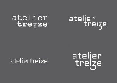Logotype pour le magasin de prêt à porté, Atelier 13