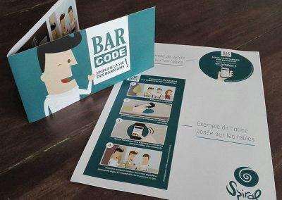 Support de vente du BarCode en coopération avec l'agence créative, Spiral